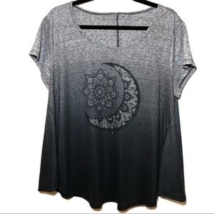 Style & Co. Moon and Sun Ombre T Shirt in Gray